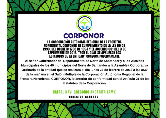 Convocatoria Asamblea Corporativa